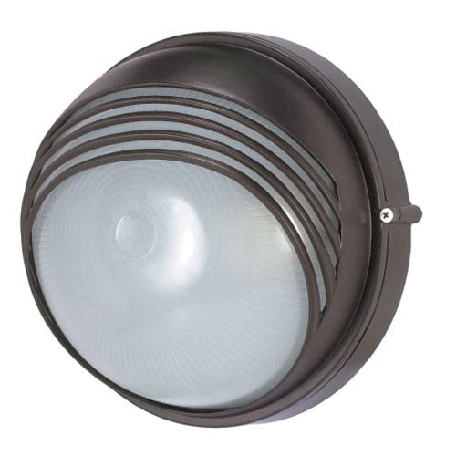 Nuvo Lighting Architectural Bronze One-Light Outdoor Wall Mount with Frosted Glass Diffuser