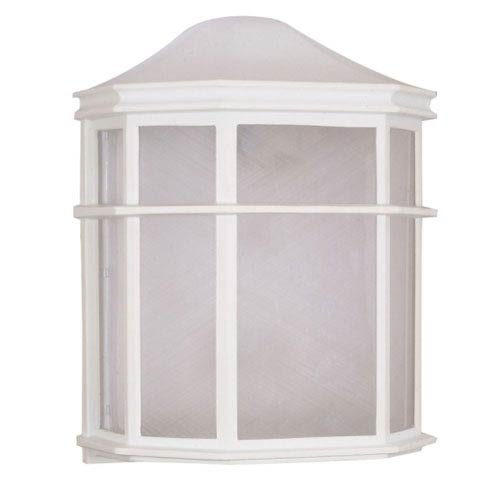 Nuvo Lighting White One-Light Outdoor Wall Mount with White Acrylic Diffuser
