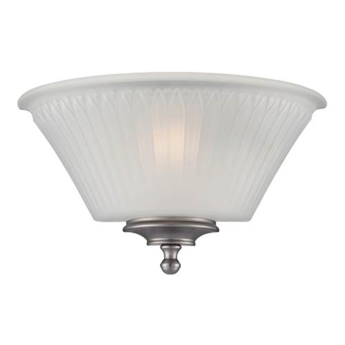 Nuvo Lighting Teller Aged Pewter One-Light Wall Sconce with Frosted Glass