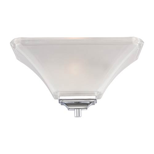Nuvo Lighting Parker Brushed Nickel One-Light Wall Sconce with Frosted Glass