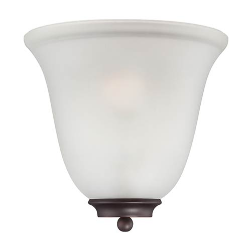 Nuvo Lighting Empire Mahogany Bronze One-Light Wall Sconce with Frosted Glass