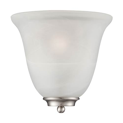 Nuvo Lighting Empire Brushed Nickel One-Light Wall Sconce with Alabaster Glass