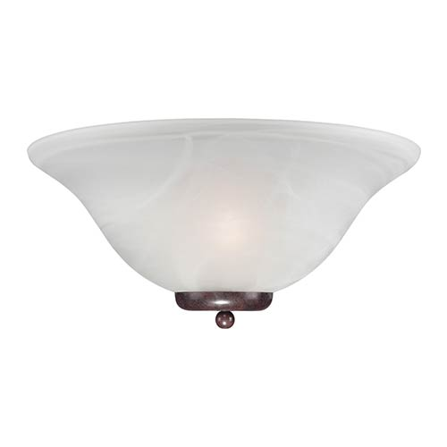 Nuvo Lighting Ballerina Old Bronze One-Light Wall Sconce with Alabaster Glass