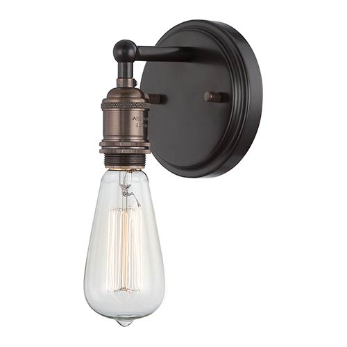 Nuvo Lighting Vintage Rustic Bronze One-Light 5-Inch Wide Wall Sconce