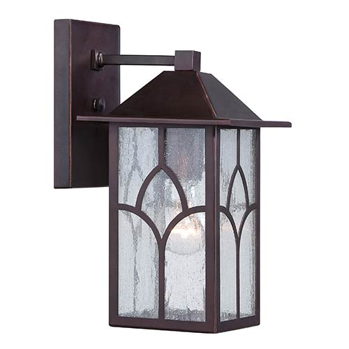 Nuvo Lighting Stanton Claret Bronze One-Light 6-Inch Wide Outdoor Wall Sconce with Clear Seeded Glass
