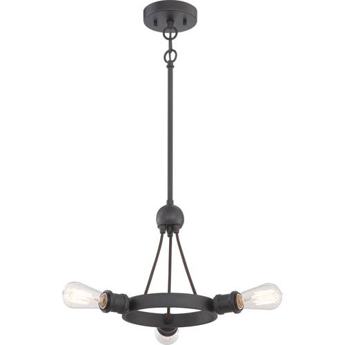 Paxton Aged Bronze Three-Light Chandelier