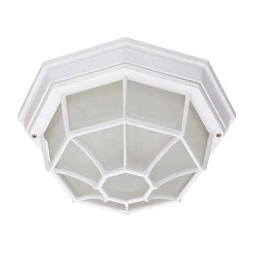 White Energy Star Outdoor Flush Mount