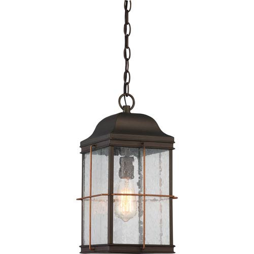 Howell Bronze with Copper Accents One-Light Outdoor Hanging Lantern
