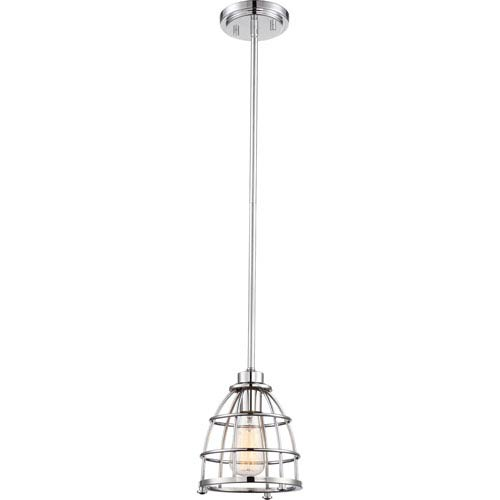 Nuvo Lighting Maxx Polished Nickel One-Light Small Mini Pendant