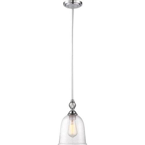 Nuvo Lighting Fern Polished Nickel Small One-Light Mini Pendant