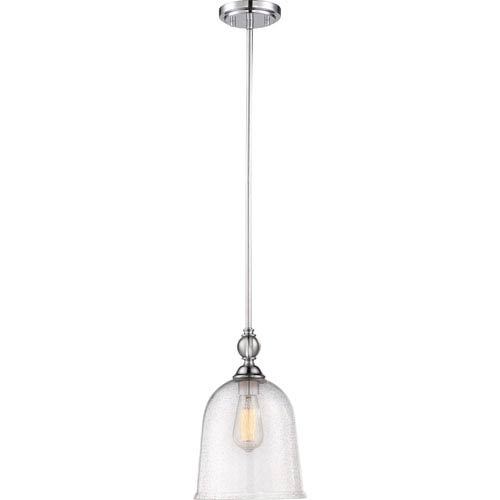 Nuvo Lighting Fern Polished Nickel Large One-Light Mini Pendant
