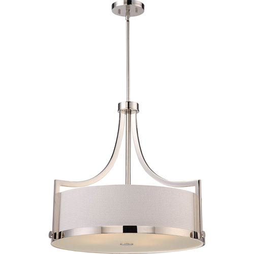 Meadow Polished Nickel Four-Light Pendant