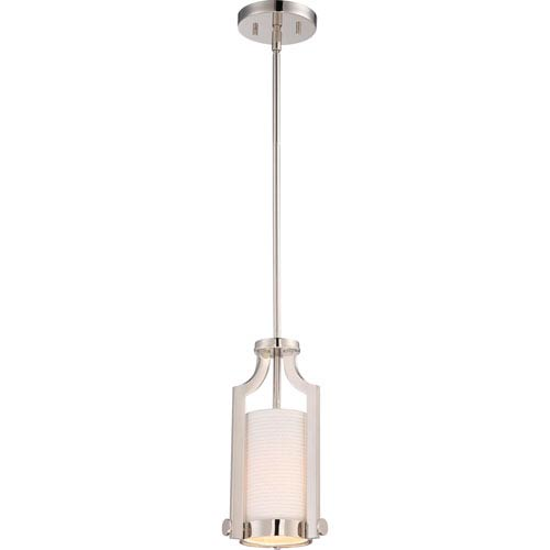 Meadow Polished Nickel One-Light Mini Pendant