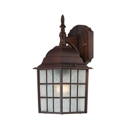 Nuvo Lighting Adams Rustic Bronze Finish One Light Outdoor Wall Sconce with Frosted Glass