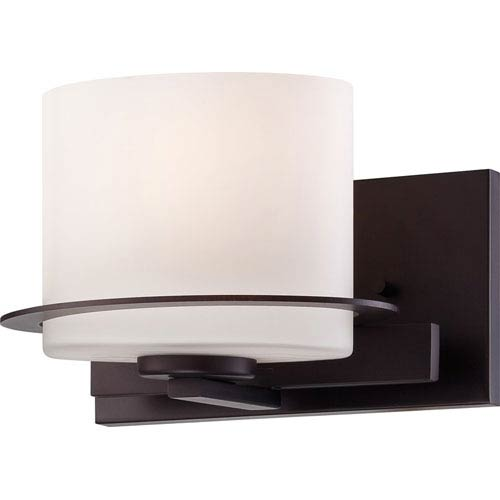 Nuvo Lighting Loren Venetian Bronze Finish One Light Vanity Fixture with Etched Opal Glass