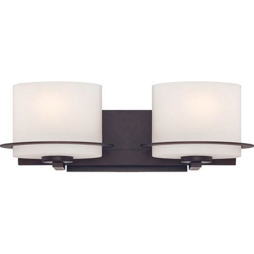 Nuvo Lighting Loren Venetian Bronze Finish Two Light Vanity Fixture with Etched Opal Glass