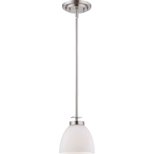 Nuvo Lighting Bentley Brushed Nickel Finish One Light Mini Pendant with Frosted Glass