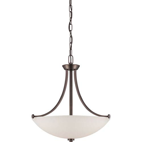 Nuvo Lighting Bentley Hazel Bronze Finish Three Light Pendant with Frosted Glass