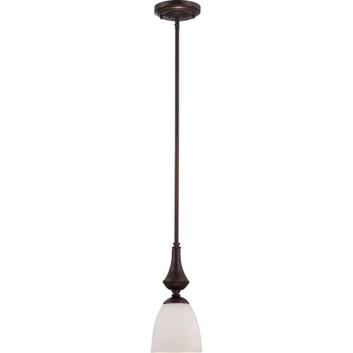 Nuvo Lighting Patton Prairie Bronze Finish One Light Mini Pendant with Frosted Glass