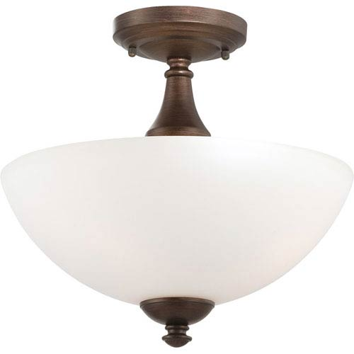 Nuvo Lighting Patton Prairie Bronze Finish Three Light Semi Flush with Frosted Glass