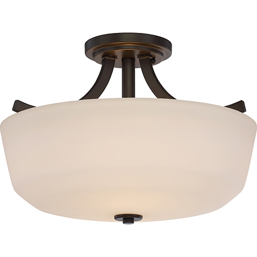 Nuvo Lighting Laguna Forest Bronze Two-Light Semi-Flush Mount