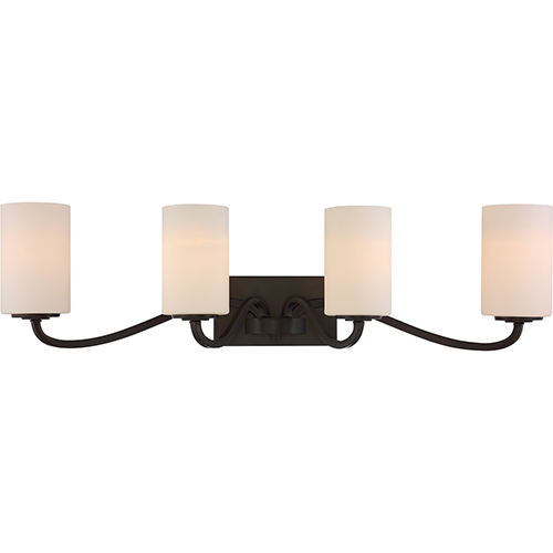 Nuvo Lighting Willow Forest Bronze Four-Light Vanity