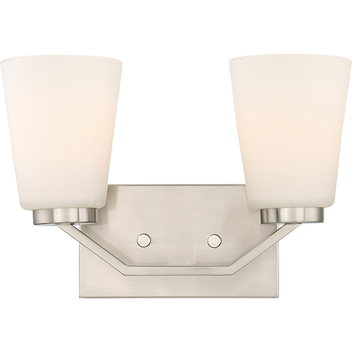 Nuvo Lighting Nome Brushed Nickel Two-Light Vanity