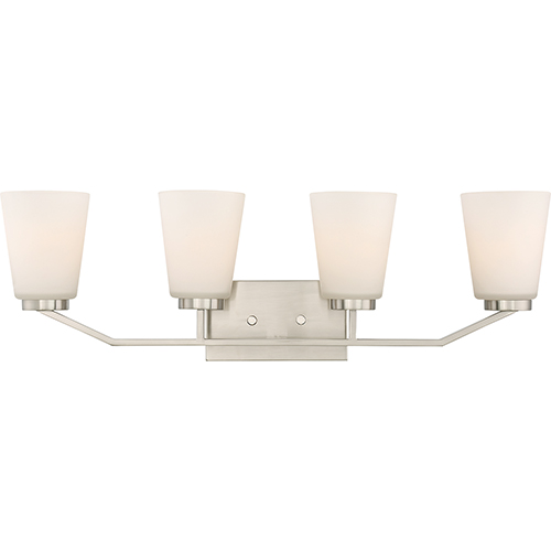 Nuvo Lighting Nome Brushed Nickel Four-Light Vanity