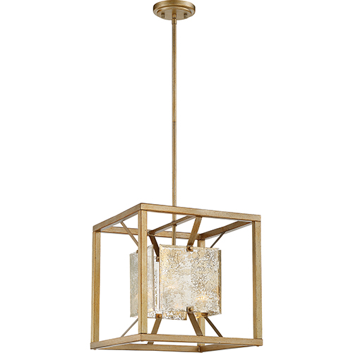 Stanza Antique Gold One-Light Medium Pendant