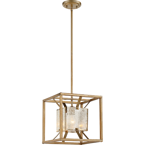 Stanza Antique Gold One-Light Small Pendant