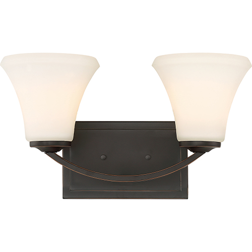 Nuvo Lighting Fawn Mahogany Bronze Two-Light Vanity