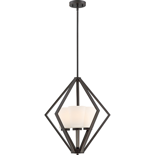 Nuvo Lighting Nome Mahogany Bronze Three-Light Pendant