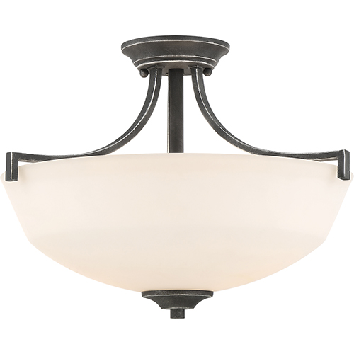 Nuvo Lighting Chester Iron Black Two-Light Semi-Flush Mount