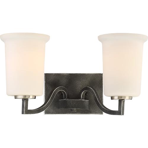 Chester Iron Black Two-Light Vanity