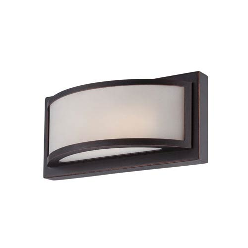Mercer Georgetown Bronze One Light LED Vanity Fixture with Frosted Glass