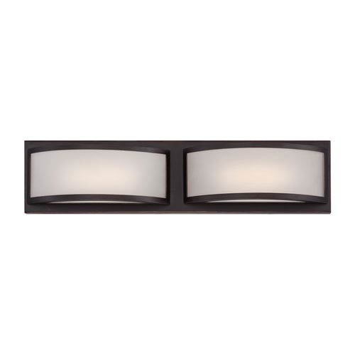 Nuvo Lighting Mercer Georgetown Bronze Two Light LED Vanity Fixture with Frosted Glass