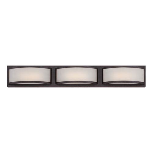 Nuvo Lighting Mercer Georgetown Bronze Three Light LED Vanity Fixture with Frosted Glass