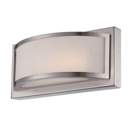 Nuvo Lighting Mercer Brushed Nickel One Light LED Vanity Fixture with Frosted Glass
