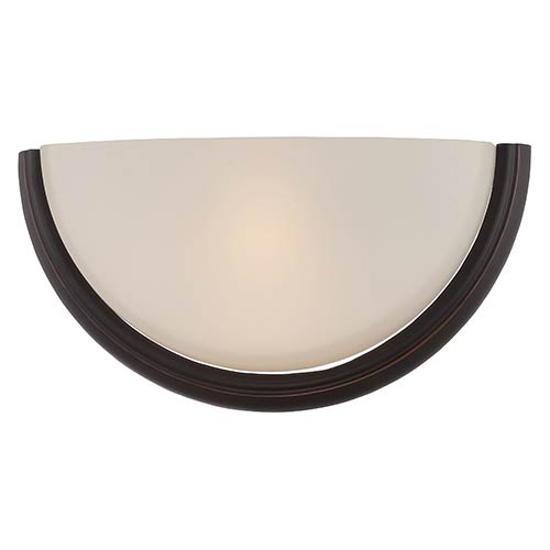 Nuvo Lighting Dylan Mahogany Bronze LED Wall Sconce with Etched Opal Glass