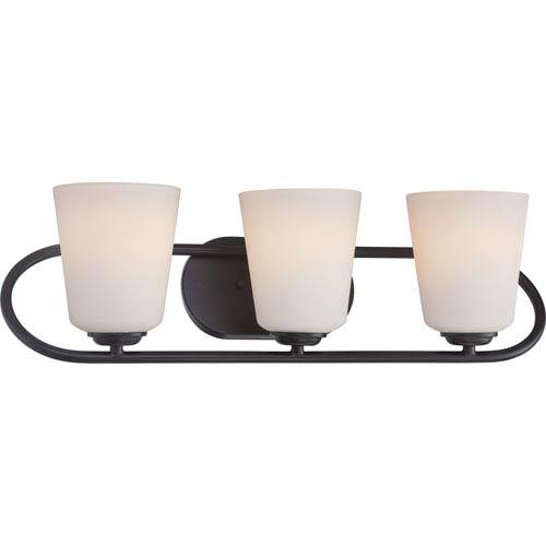 Dylan Mahogany Bronze Three-Light LED Vanity