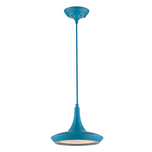 Fantom Blue LED Dome Pendant with Frosted Glass