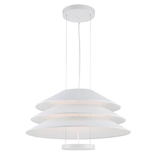 Nuvo Lighting Evol Glacier White LED Dome Pendant