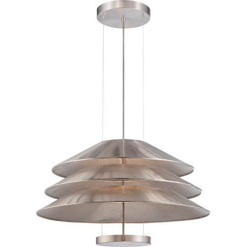 Evol Satin Steel One-Light LED Pendant