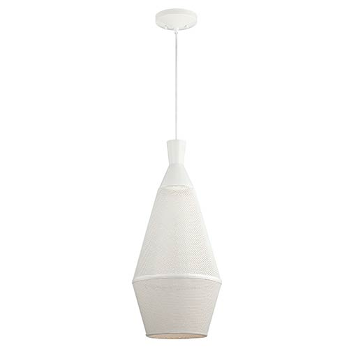 Nuvo Lighting Marx Glacier White LED Dome Pendant with Perforated Metal Shade