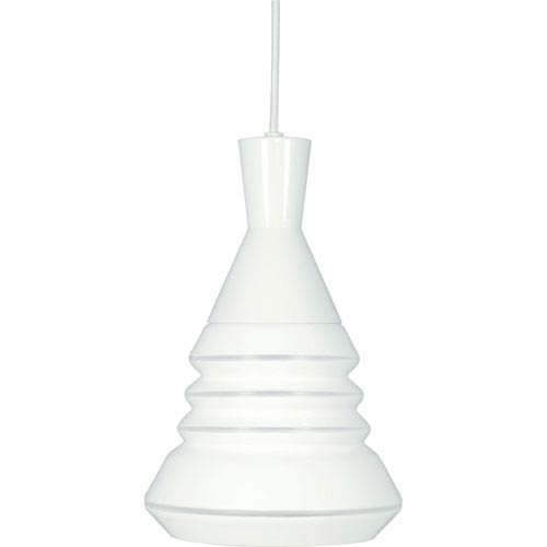 Vortex White One-Light Pendant