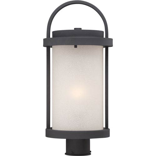 Willis Textured Black One-Light LED Outdoor Post Mount