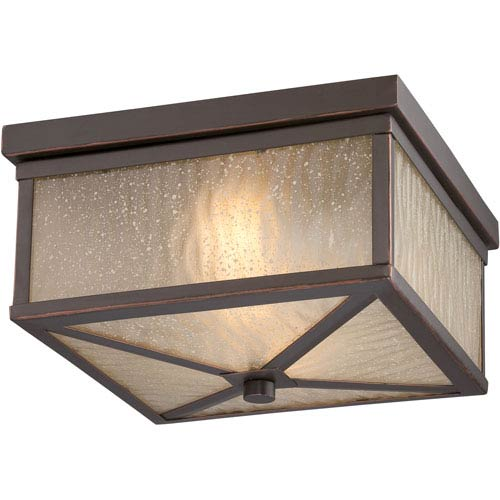 Haven Mahogany Bronze Two-Light LED Outdoor Flush Mount