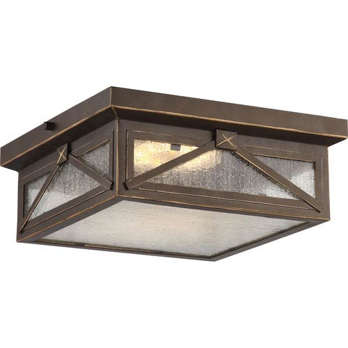 Outdoor ceiling lighting exterior light fixtures bellacor roxton umber bay led outdoor flush mount aloadofball