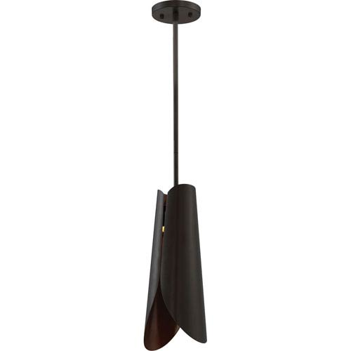 Nuvo Lighting Thorn Dark Bronze and Copper Accents LED Mini Pendant