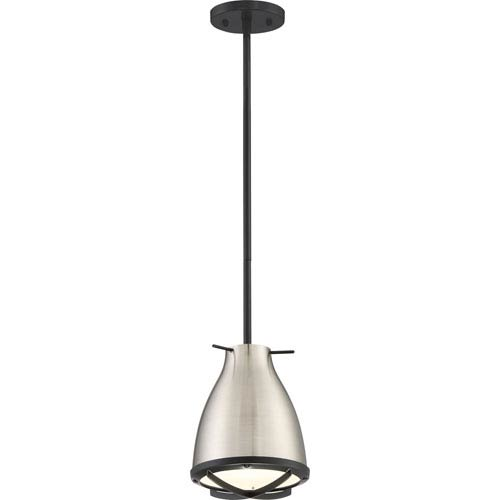 Thrust Brushed Nickel and White Accents LED Mini Pendant